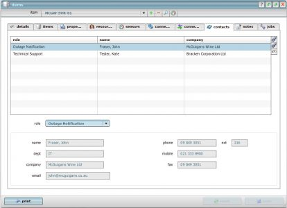 Manage the contacts on the equipment they own