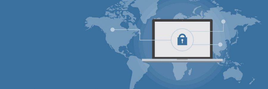 cyber security image on desktop